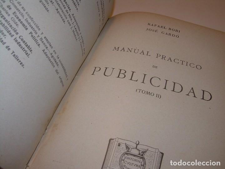 Libros antiguos: MANUAL PRACTICO DE PUBLICIDAD..DOS TOMOS EN UN MISMO LIBRO....AÑO. 1928..CON INFINADAD DE GRABADOS. - Foto 14 - 115229199