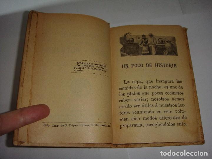 Libros antiguos: 100 FORMULAS PARA SOPAS Y POTAGES. MADEMOISELLE ROSE. EDITORIAL SATURNINO CALLEJA - Foto 3 - 115235611