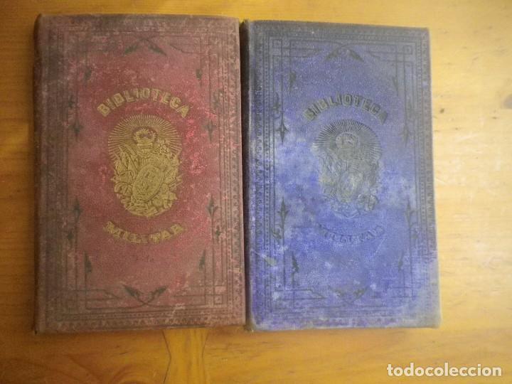 BIBLIOTECA MILITAR TOMO X SEPTIEMBRE 1877 TOMO XIII DICIEMBRE 1877 VER FOTOS (Libros Antiguos, Raros y Curiosos - Historia - Otros)