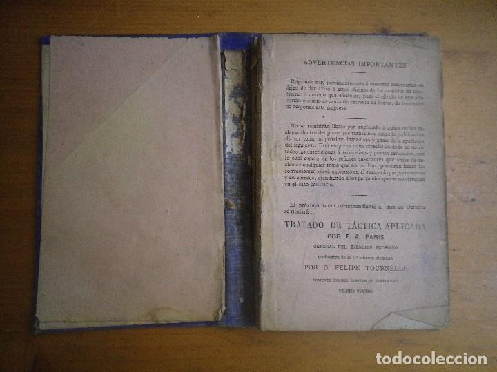 Libros antiguos: BIBLIOTECA MILITAR TOMO X SEPTIEMBRE 1877 TOMO XIII DICIEMBRE 1877 VER FOTOS - Foto 6 - 115246703