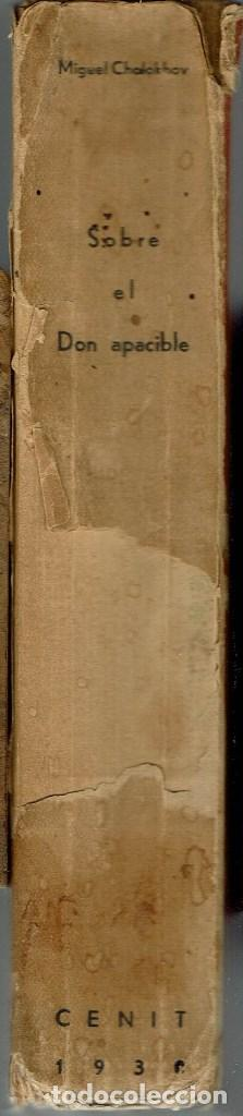 Libros antiguos: SOBRE EL DON APACIBLE, POR MIGUEL CHOLOKHOV. AÑO 1930 (10.3) - Foto 3 - 115282135