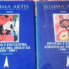 Libros antiguos: 2 TOMOS -SUMMA ARTIS -PINTURA Y ESCULTURA ESPAÑOLAS 1900-1990. Lote 115293963