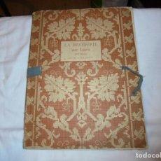 Libros antiguos: LA BRODERIE SUR LACIS PAR TH.DE DILLMONT II SERIE.CARPETA CON LIBRO TEXTO Y 20 PLANCH. Lote 115301847