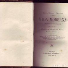 Libros antiguos: VIDA MODERNA (MANCHAS DE COLOR). CARLOS OSSORIO Y GALLARDO, LA ESPAÑA EDITORIAL, 1890. Lote 115382031