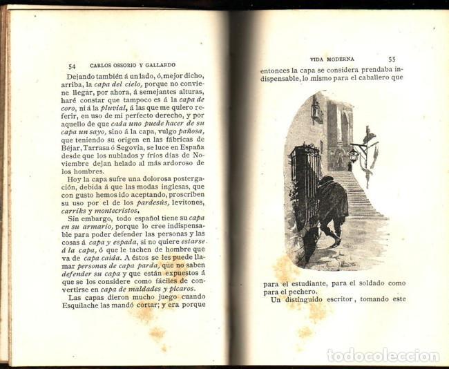 Libros antiguos: Vida moderna (Manchas de color). Carlos Ossorio y Gallardo, La España editorial, 1890 - Foto 2 - 115382031