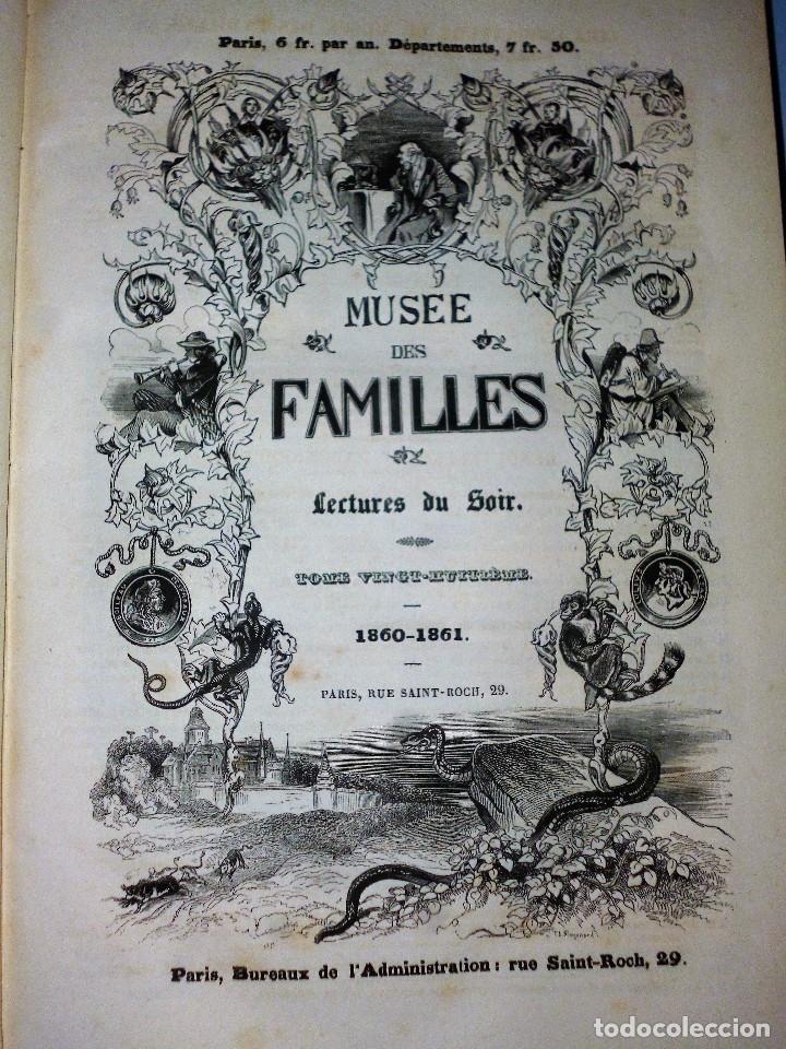 Libros antiguos: MUSÉE DES FAMILLES. LECTURES DU SOIR. TOME VINGT-HUITIÈME. 1860-1861. - Foto 2 - 115383635