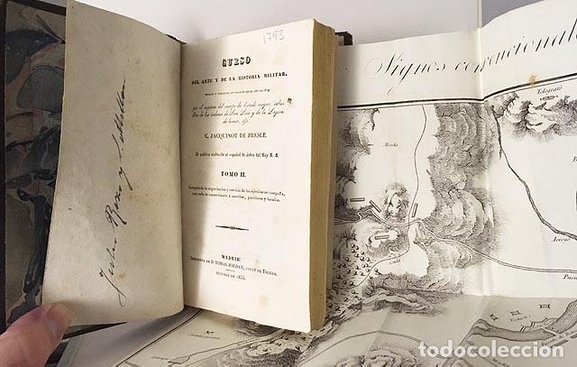 CURSO DEL ARTE Y DE LA HISTORIA MILITAR. TOMO II (1833) 3 GRABADOS DESPLEGABLES. PIEL ESPAÑOLA (Libros Antiguos, Raros y Curiosos - Ciencias, Manuales y Oficios - Otros)