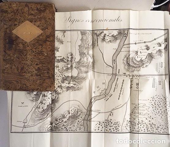 Libros antiguos: Curso del Arte y de la Historia Militar. Tomo II (1833) 3 grabados desplegables. Piel española - Foto 2 - 115384283