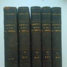 Libros antiguos: 1905 HISTORIA DE LA REGENCIA DE MARIA CRISTINA HABSBOURG-LORENA, 58 LÁMINAS. Lote 115408535