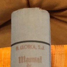 Libros antiguos: MANUAL DE HISTORIA ECLESIASTICA(25 €). Lote 115420495