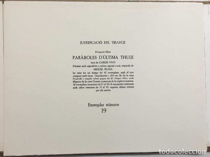 Libros antiguos: PARÀBOLES D'ÚLTIMA THULE. - VIVÓ, Carles. BIBLIOFILIA. 13 AGUAFUERTES. EDICIÓN DE 36 EJEMPLARES. - Foto 4 - 114799390