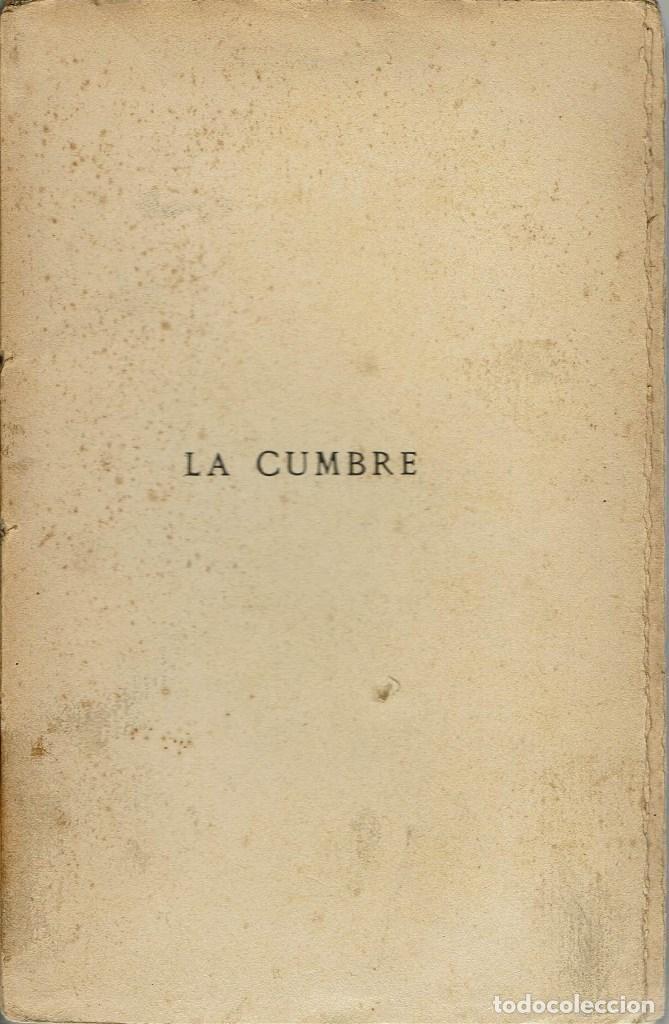 Libros antiguos: LA CUMBRE, POR JUAN DÍAZ-CANEJA. AÑO 1908 (12.3) - Foto 2 - 115482191