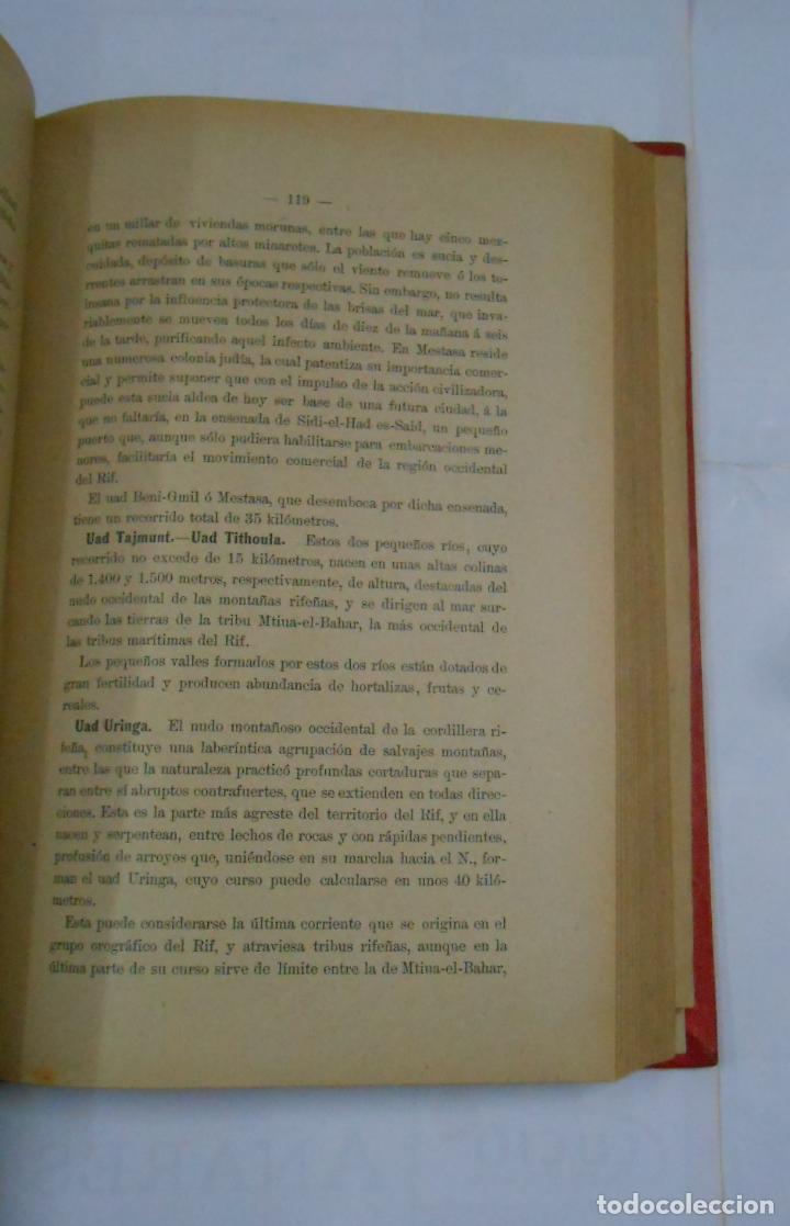 Libros antiguos: ESTUDIO GEOGRAFICO POLITICO-MILITAR SOBRE LAS ZONAS ESPAÑOLAS DEL NORTE Y SUR DE MARRUECOS. TDK336 - Foto 2 - 115503711