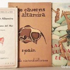 Libros antiguos: 3 FOLLETOS ANTIGUOS SOBRE LA CUEVA DE ALTAMIRA. (1928, 1934). Lote 115534447