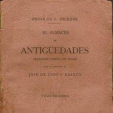 Libros antiguos: EL ALMACÉN DE ANTIGÜEDADES. OBRAS DE CARLOS DICKENS. 2 TOMOS . AÑO 1886. (12.3). Lote 115551931