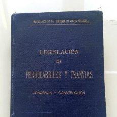 Libros antiguos: FERROCARRILES Y TRANVIAS 1902. Lote 113930755