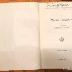 Libros antiguos: METODOS TOPOGRAFICOS(20€). Lote 115615515
