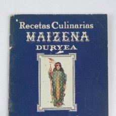 Libros antiguos: RECETAS CULINARIAS MAIZENA, DURYEA, CORN PRODUCTS REFINING COMPANY, NEW YORK - U.S.A, TIENE 47 PAG. . Lote 115808711