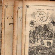 Libros antiguos: JULIO VERNE : DOS AÑOS DE VACACIONES (JUBERA, C. 1890) CUATRO CUADERNOS. Lote 115885767