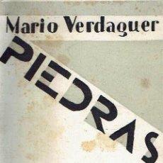 Libros antiguos: PIEDRAS Y VIENTO. MARIO VERDAGUER.. Lote 116076227