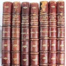 Libros antiguos: L-4722. EUSEBIO BLASCO. OBRAS COMPLETAS. 7 TOMOS SUELTOS. MADRID, AÑO 1904.. Lote 116086635