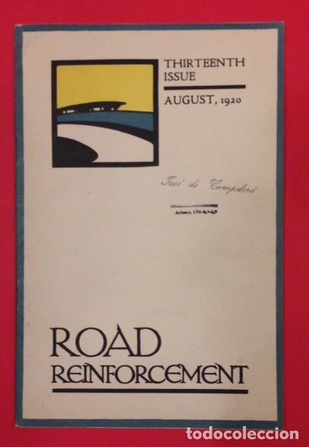 ROAD REINFORCEMENT, CARRETERAS 1920 (Libros Antiguos, Raros y Curiosos - Ciencias, Manuales y Oficios - Otros)