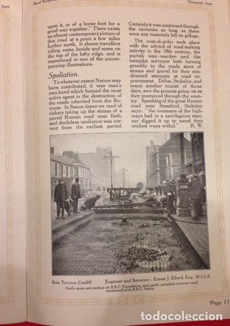 Libros antiguos: ROAD REINFORCEMENT, CARRETERAS 1920 - Foto 3 - 116105987