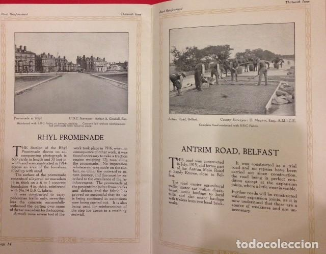 Libros antiguos: ROAD REINFORCEMENT, CARRETERAS 1920 - Foto 4 - 116105987