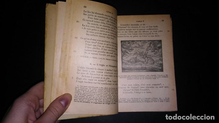 Libros antiguos: Antiguo libro la fontaine fables, r. radouant, librarie hachette 1929 en francés - Foto 7 - 116175951