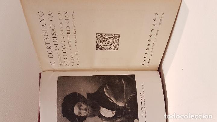 LITERATURA ITALIANA. CASTIGLIONE. IL CORTEGIANO. ANNOTATO E ILLUSTRATO DA VITORIO CIAN. (Libros Antiguos, Raros y Curiosos - Otros Idiomas)