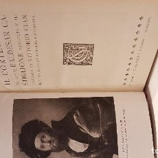 Livres anciens: LITERATURA ITALIANA. CASTIGLIONE. IL CORTEGIANO. ANNOTATO E ILLUSTRATO DA VITORIO CIAN.. Lote 116334027