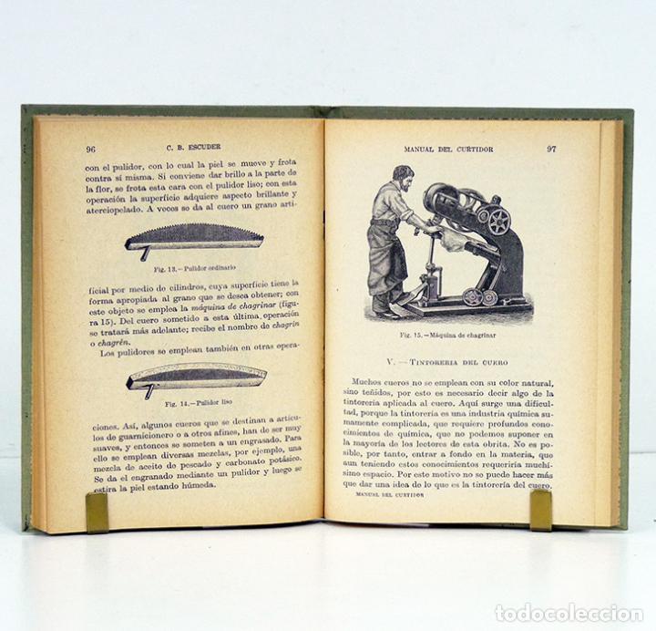 Libros antiguos: ESCUDER (C. B.). Manual del Curtidor y Nociones de Peletería. Manuales Gallach, 1935. Ilustrado - Foto 3 - 116502604