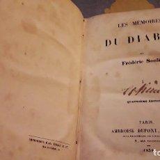Libros antiguos: LES MEMOIRES DU DIABLE. TOMO Í. FREDERIC SOULIER. EDICIÓN DE 1838.. Lote 116555635