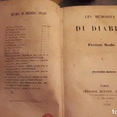 Libros antiguos: LES MEMOIRES DU DIABLE. TOMO V.. FREDERIC SOULIER. EDICIÓN DE 1838... Lote 116558967