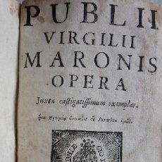 Libros antiguos: PUBLII VIRGILII MARONIS OPERA - AÑO 1771. Lote 116564599