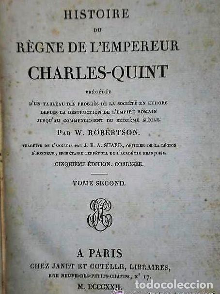 Libros antiguos: HISTOIRE DU RÈGNE DE L´EMPEREUR CHARLES-.QUINT .(4 TOMOS, 1822) - Foto 4 - 116598947
