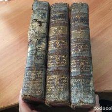 Libros antiguos: DICCIONARIO HISTORICO DICTIONNAIRE HISTORIQUE PORTATIF AÑO 1771 FRANCES TOMOS 1, 2 Y 4 (LB33) . Lote 116623351