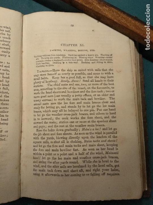 Libros antiguos: Dana, R.H. The seamans manual. 1851. Aparejo y maniobra de los veleros. - Foto 5 - 116624843