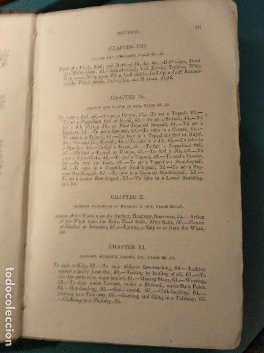 Libros antiguos: Dana, R.H. The seamans manual. 1851. Aparejo y maniobra de los veleros. - Foto 4 - 116624843