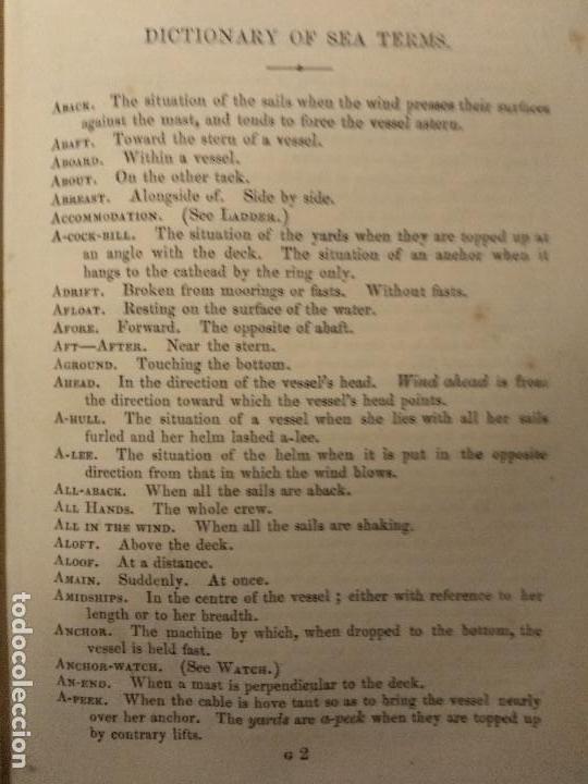 Libros antiguos: Dana, R.H. The seamans manual. 1851. Aparejo y maniobra de los veleros. - Foto 6 - 116624843