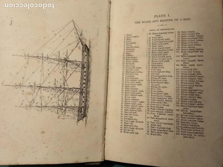 Libros antiguos: Dana, R.H. The seamans manual. 1851. Aparejo y maniobra de los veleros. - Foto 2 - 116624843