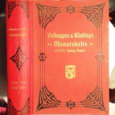 Libros antiguos: VELHAGEN & KLAFINGS MONATSHEFTE 34 JAHRGANG 1919/1920 1. BAND, VERLAG BELHAGEN & KLAFING, BERLIN. Lote 116659747