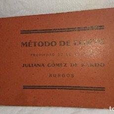 Libros antiguos: ANTIGUO LIBRO MÉTODO DE CORTE - JULIANA GÓMEZ DE PARDO ( BURGOS) . Lote 116838331