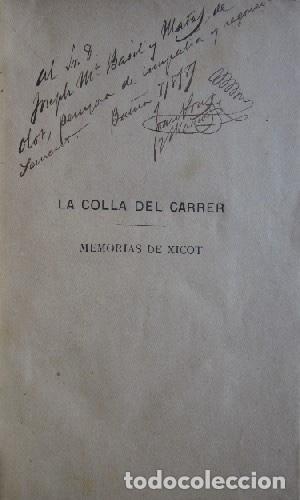Libros antiguos: LA COLLA DEL CARRER - JOAN PONS MASSAVEU - CON DEDICATORIA AUTOGRAFIADA DEL AUTOR - AÑO 1887 - Foto 3 - 116930839