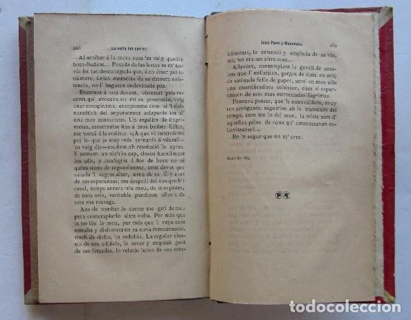 Libros antiguos: LA COLLA DEL CARRER - JOAN PONS MASSAVEU - CON DEDICATORIA AUTOGRAFIADA DEL AUTOR - AÑO 1887 - Foto 5 - 116930839