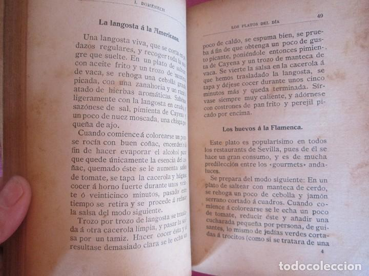 Libros antiguos: TODOS LOS PLATOS DEL DÍA. MOSAICO DE RECETAS DOMÉNECH 1912 RARO - Foto 7 - 116994891