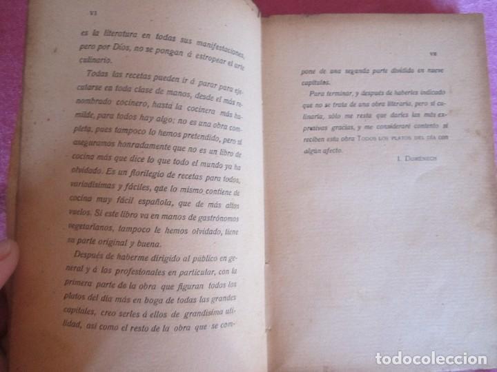 Libros antiguos: TODOS LOS PLATOS DEL DÍA. MOSAICO DE RECETAS DOMÉNECH 1912 RARO - Foto 10 - 116994891
