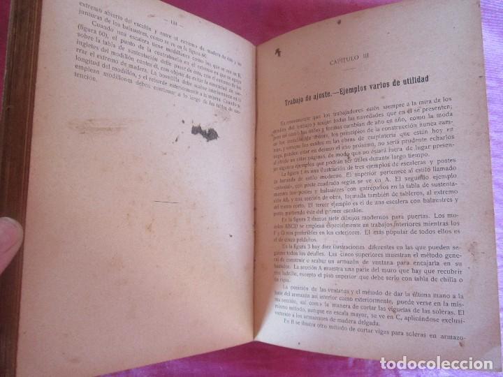 Libros antiguos: MANUAL DE CARPINTERÍA MODERNA - F.T. HODGSON 600 GRABADOS 1914 - Foto 6 - 116995827