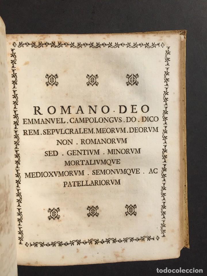 Libros antiguos: 1781 - Sepulcretum Amicabile - Rarisimo libro que contiene 1900 epitafios - Cementerio - Foto 3 - 117013087