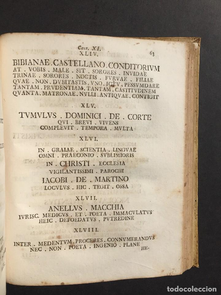 Libros antiguos: 1781 - Sepulcretum Amicabile - Rarisimo libro que contiene 1900 epitafios - Cementerio - Foto 5 - 117013087